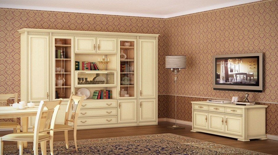 Гостиные «Толедо» мебельной фабрики Севзапмебель