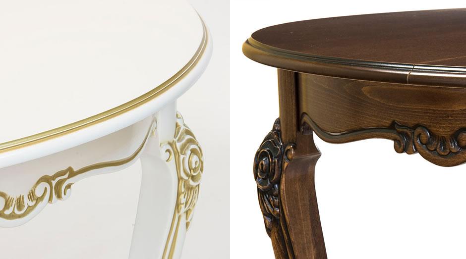 Стол Линда-17 - классический раздвижной обеденный стол с круглой столешницей, из натурального массива бука.