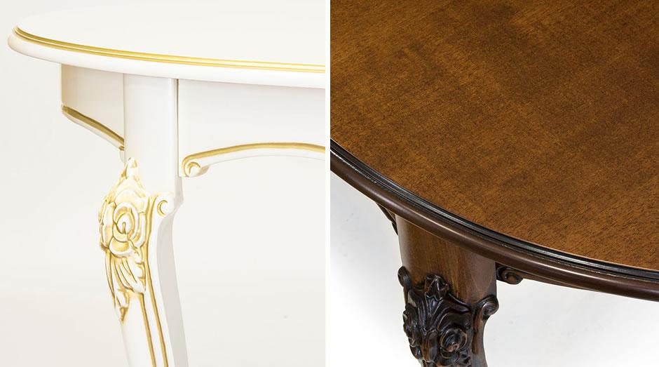 Стол Натали-17 - классический стол из натурального массива бука с овальной столешницей.
