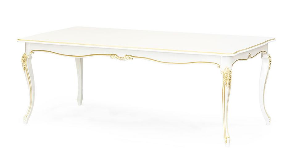 Стол Сэм-17 - классический обеденный стол с прямоугольной столешницей из австрийского шпонированного МДФ и натурального массива бука